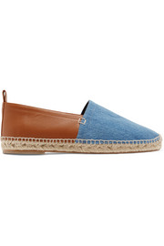 Loewe Denim and leather espadrilles