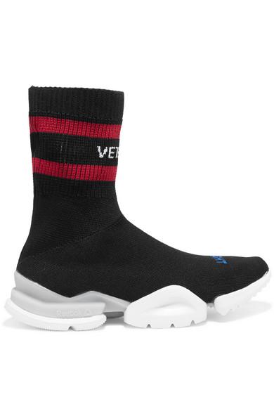 Vetements X Reebok logo-jacquard stretch-knit sock sneakers aOj6K