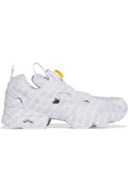 + Reebok Logo Instapump Fury printed leather and mesh sneakers