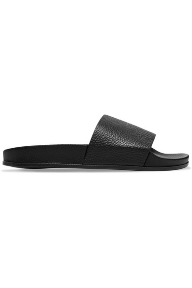 Vetements Leather Slide Sandals sale footlocker clearance 2014 new extremely for sale UyrMQ