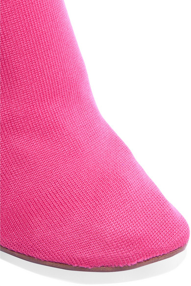 Vetements Sock Boots aus Stretch-Strick mit Logointarsien