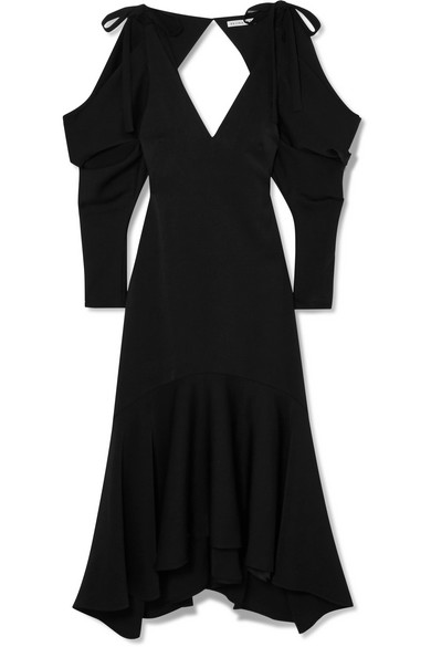 Camille Open Back Crepe Midi Dress by Rejina Pyo