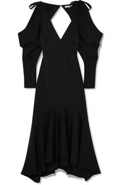 Camille open-back crepe midi dress