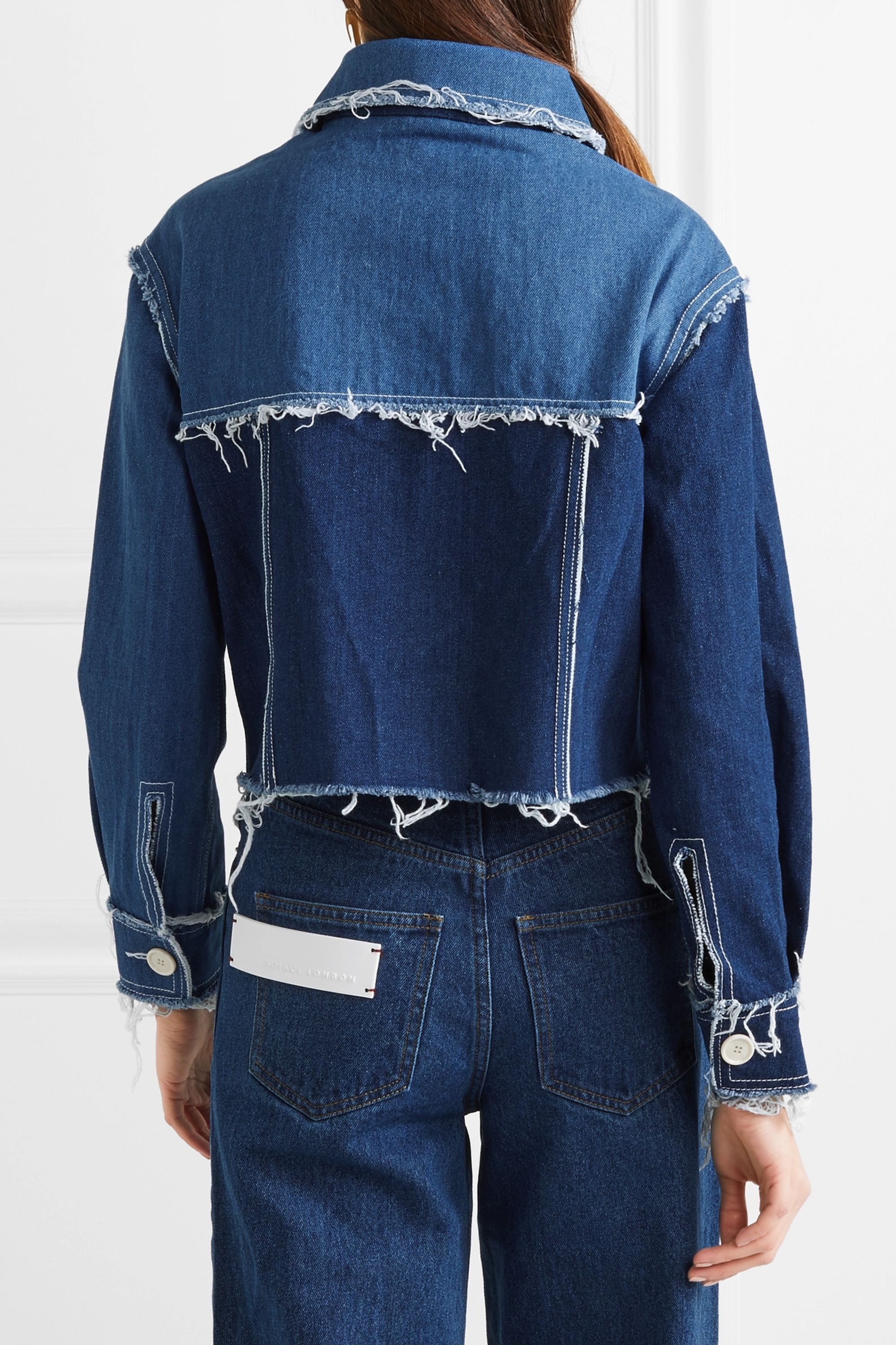 REJINA PYO Tessa frayed denim jacket