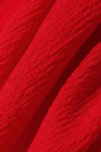 Rabatt Viele Arten Von Freies Verschiffen Schnelle Lieferung Rejina Pyo Renata Maxikleid aus Crêpe in Knitteroptik mit Rüschen Verkaufen Sind Große Rabattpreise BAgAs