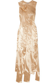 Laura cutout satin dress