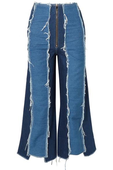Rejina Pyo Bella hoch sitzende Jeans mit verkürztem weitem Bein in Distressed-Optik