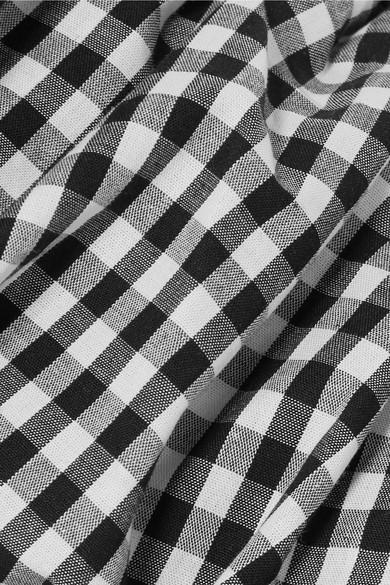Rabatt Vermarktbare Rejina Pyo Mina schulterfreies Baumwolloberteil mit Gingham-Karo Neuankömmling Billig Verkauf Große Diskont Freies Verschiffen 2018 Neuesten Kollektionen Zu Verkaufen QC9Mf