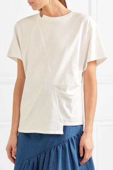 Rejina Pyo Sabrina T-Shirt aus Baumwoll-Jersey mit Falten Günstig Kaufen  Rabatt Großer Rabatt Günstig Kaufen Niedrigen Preis Freies Verschiffen Browse WWAlp6