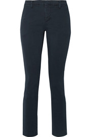 J Brand Clara stretch-cotton twill slim-leg pants