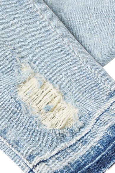 J Brand 620 Super Skinny halbhohe Jeans in Distressed-Optik