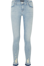 620 Super Skinny distressed mid-rise jeans