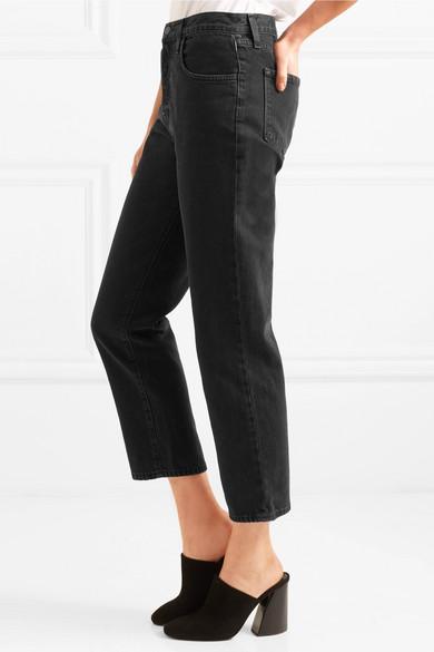 J Brand Wynne hoch sitzende verkürzte Jeans mit geraden Bein