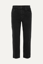 Wynne high-rise cropped straight-leg jeans
