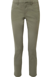 Clara stretch-twill slim-leg pants