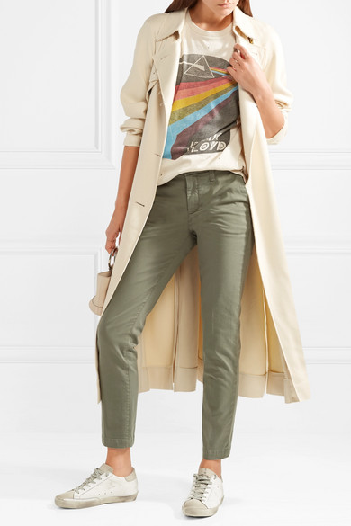 Cheap Price Outlet Clara Cotton-blend Twill Slim-leg Pants - Gray green J Brand Low Shipping Fee Cheap Price Sale Shop Offer Cheapest Sale Online Xcrbns