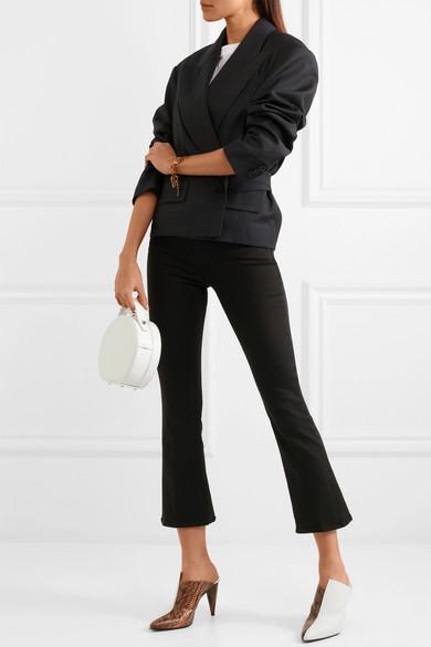 J Brand Selena halbhohe, verkürzte Bootcut-Jeans