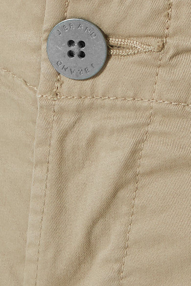 J Brand Inez Trousers With A Straight Leg From Twill Stretch Cotton