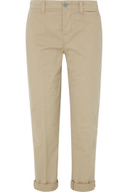 J Brand Inez stretch-cotton twill straight-leg pants