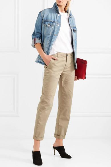 J Brand Inez Hose mit geradem Bein aus Twill aus Stretch-Baumwolle
