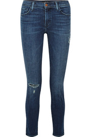 811 distressed mid-rise skinny jeans