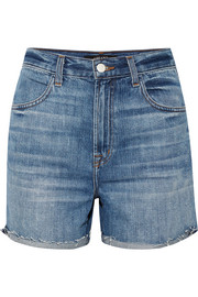 J Brand Joan distressed denim shorts