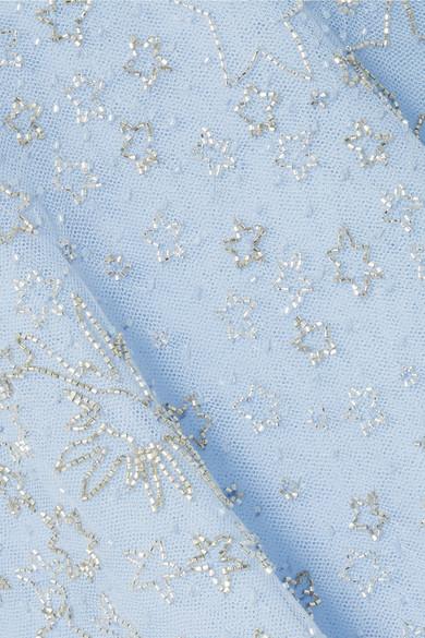 Zuhair Murad Verzierte Robe aus Organza aus einer Seidenmischung