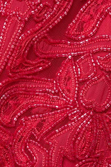 Zuhair Murad Robe aus Tüll aus einer Seidenmischung mit Stickereien und Verzierungen
