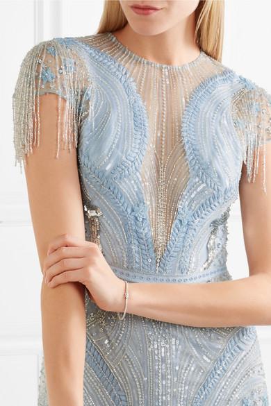 Verkauf 2018 Neue Zuhair Murad Verziertes Minikleid aus Tüll aus einer Seidenmischung Original-Verkauf LKasVE