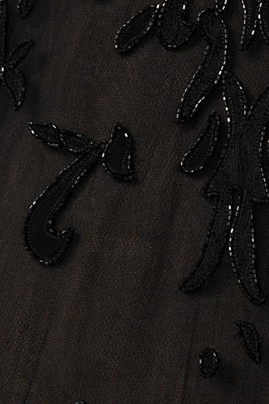 Zuhair Murad Robe aus Tüll mit Zierperlen