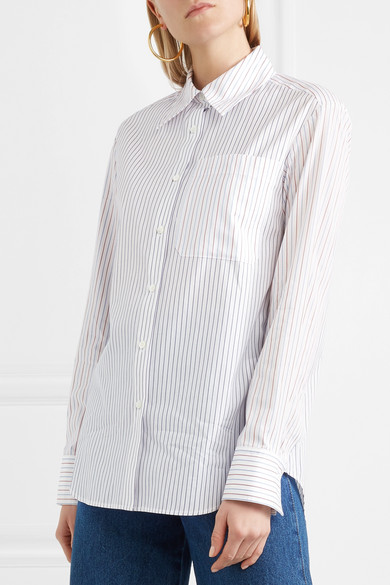 Sonia Rykiel Gestreiftes Hemd aus Baumwollpopeline