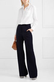 Sonia Rykiel Lace-trimmed cotton-sateen shirt