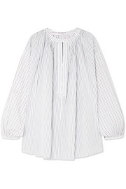 Sonia Rykiel Striped cotton-poplin blouse