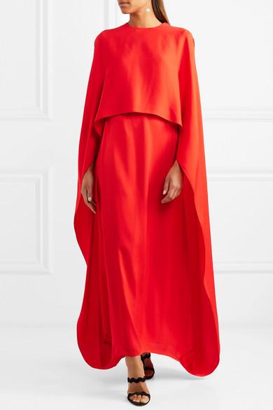 Stella McCartney Mehrlagige Robe aus Crêpe
