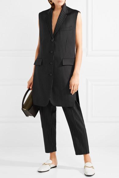 Stella McCartney Sadi Oversized-Weste aus einer Wollmischung mit Nadelstreifen