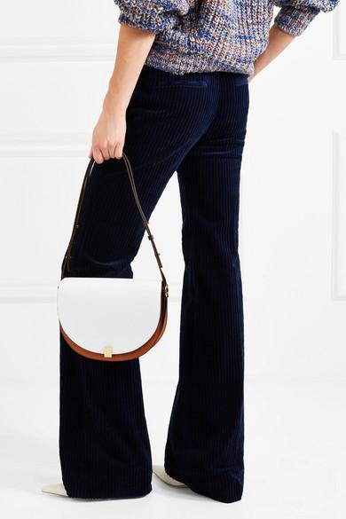 Victoria Beckham Half Moon Box Schultertasche aus Leder in Colour-Block-Optik
