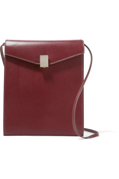Victoria Beckham - Postino Leather Shoulder Bag - Burgundy