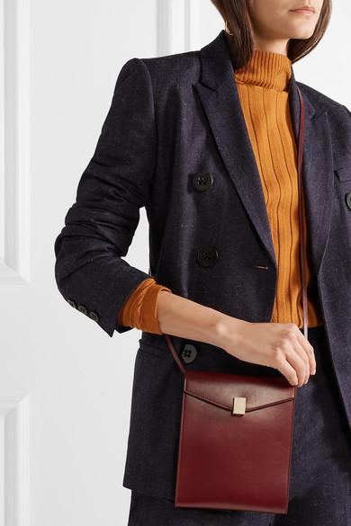 Victoria Beckham Postino Schultertasche aus Leder