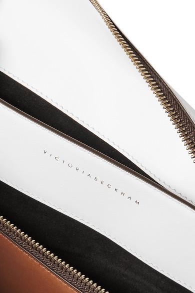 Victoria Beckham Zweifarbiger Beutel aus Leder