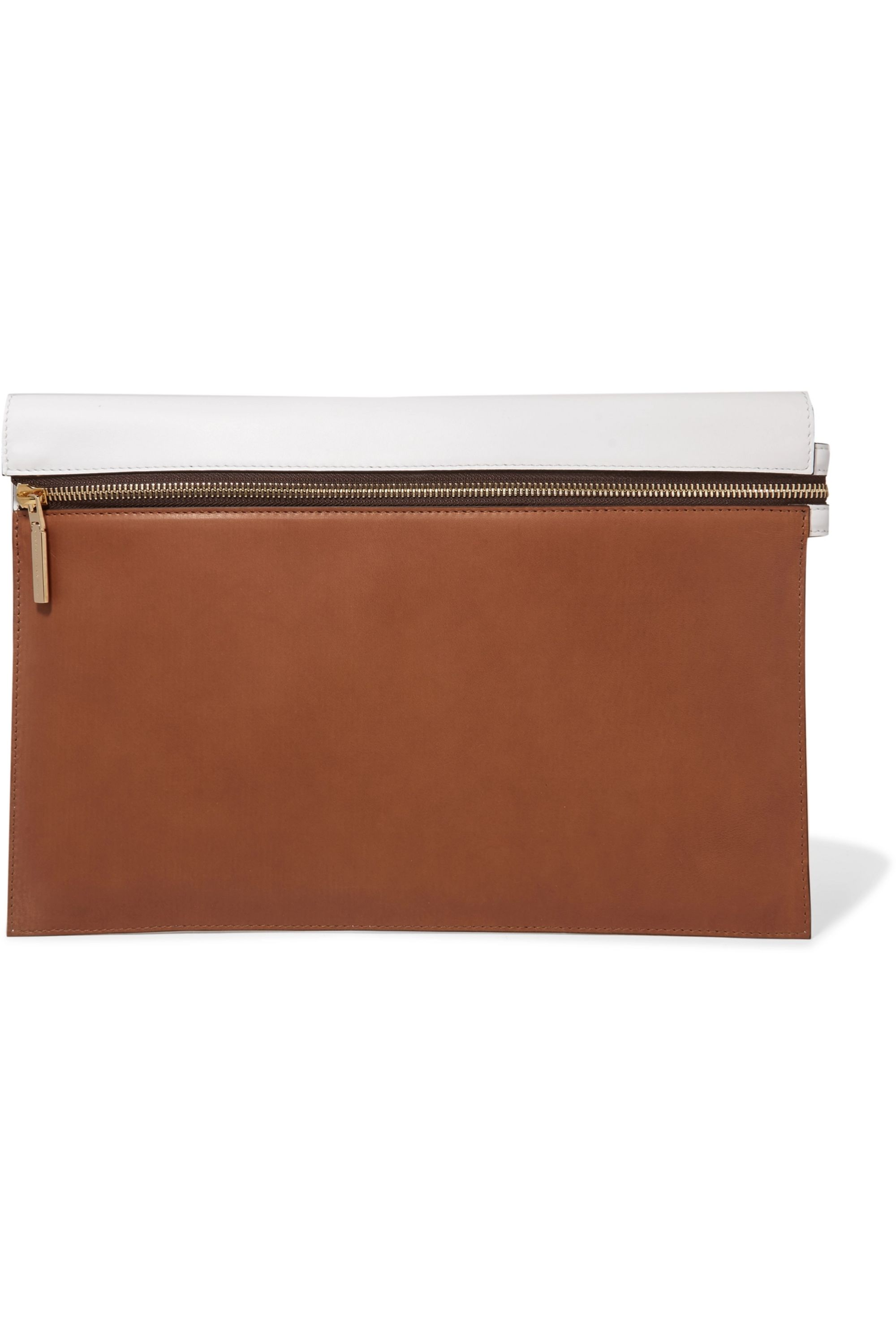 Victoria Beckham Two-tone leather pouch