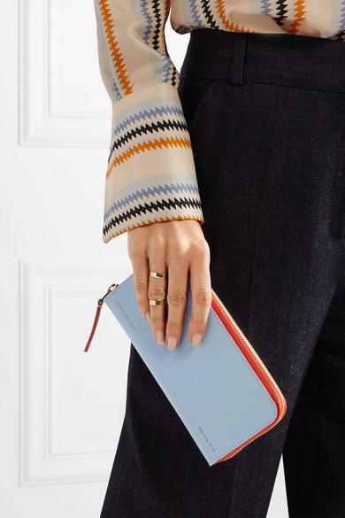 Wahl Verkauf Online Victoria Beckham Zweifarbiges Portemonnaie aus Leder Verkauf Erhalten Authentisch Steckdose Vermarktbaren JsVZ1vY