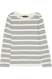 Fog striped cotton top