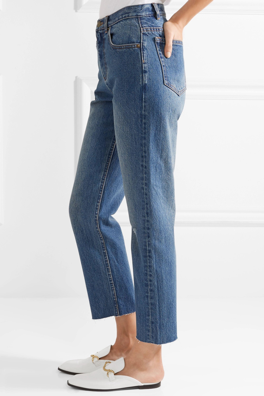 A.P.C. Atelier de Production et de Création Standard distressed high-rise straight-leg jeans