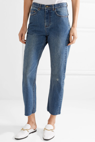 A.P.C. Atelier de Production et de Création Standard hoch sitzende Jeans mit geradem Bein in Distessed-Optik
