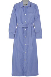 Millie striped cotton-poplin midi shirt dress