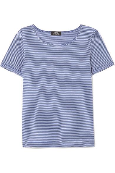 A.P.C. Atelier de Production et de Création Oma gestreiftes T-Shirt aus Baumwoll-Jersey