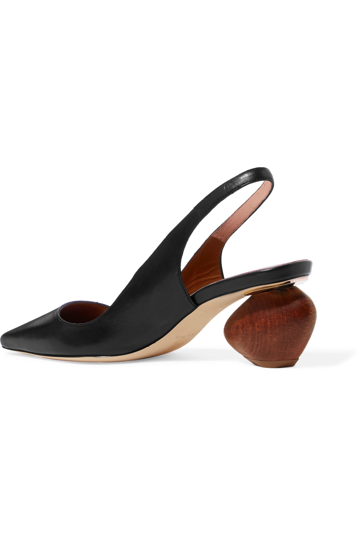 REJINA PYO Margot leather slingback pumps