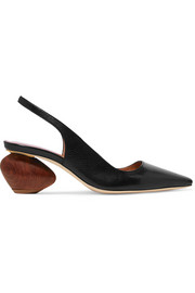 Margot leather slingback pumps