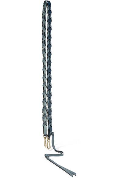 Loewe Zweifarbiger Taschenträger aus strukturiertem Leder in Flechtoptik