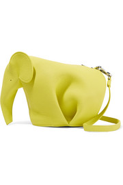 Elephant textured-leather shoulder bag
